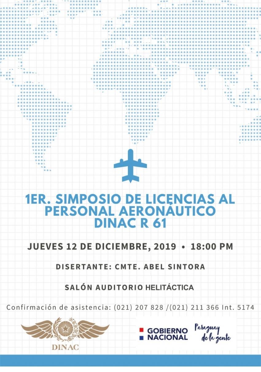 1ER. SIMPOSIO DE LICENCIAS AL PERSONAL AERONÁUTICO