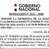 Resolución DINAC N°314/2020 - Prorroga de suspensión temporal Resolución N° 272 y N° 280